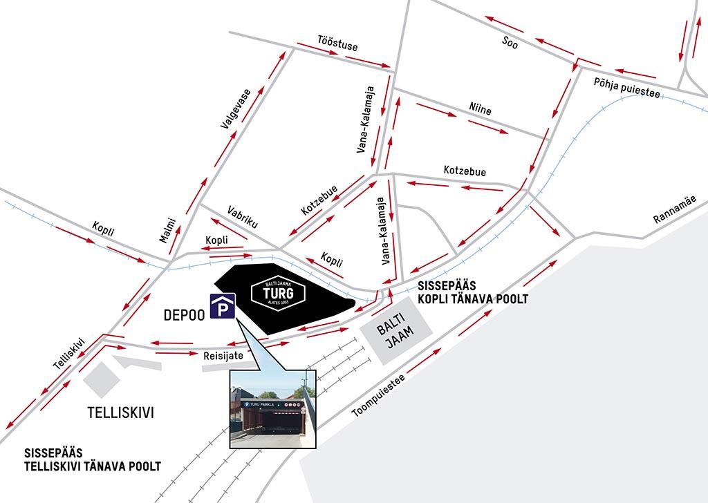 Balti Jaama Turg parkimine